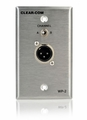 Clear-Com 2-Channel 3-pin Selectable Intercom Outlet Wall Plate - WP-2