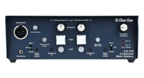 Clear-Com 2-Channel Compact Main Station - CS-702