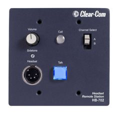 Clear-Com 2-Channel Remote Headset Station - HB-702