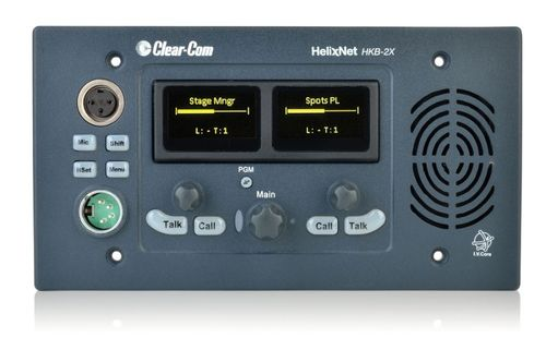 Clear-Com 4-Channel 2 Display with Shift Page Digital Speaker Station - HKB-2X