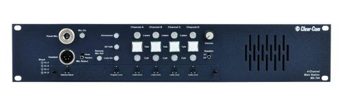 Clear-Com 4-Channel 2RU Main Station with built-in Speaker - MS-704