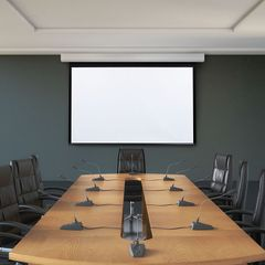 Draper Acumen Recharge E Battery-Operated Motorized Projection Screen