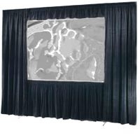 Draper Ultimate Folding Screen Dress Kit - I.F.R., 12' x 12', Square, Black velour