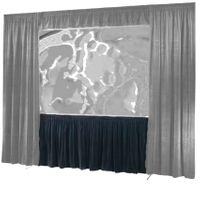 "Draper Ultimate Folding Screen Dress Kit Skirt - I.F.R., 69"" x 120"", HDTV, Black velour"