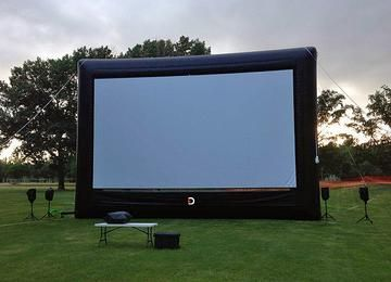 Drive-Up Series 31' Diagonal Inflatable Outdoor Theater for Drive-In - 67162