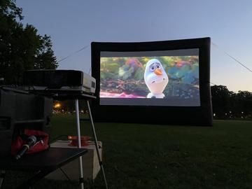 Drive-Up Series 36.5' Diagonal Inflatable Outdoor Theater for Drive-In - 67163
