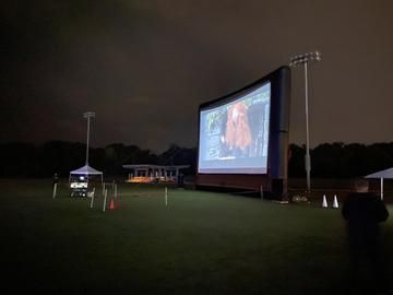 Drive-Up Series 48' Diagonal Inflatable Outdoor Theater for Drive-In - 67177