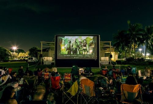 Drive-Up Series 28.5' Diagonal Silent Inflatable Outdoor Theater for Drive-In - 67164