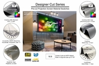 """Elite Screens Designer Cut 135"""" Front Projection Screen, AcousticPro 1080P3 Fabric - RM-135HW-A1080P3"""