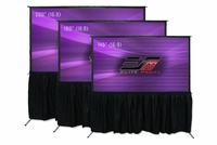 "EPAV Yard Master Pro 2180"" Front  And Rear Projection Screen, CineWhite®/WraithVeil® Fabric - OMS180H2-ProDual"