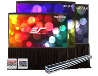 "Elite Screens Pop-up Cinema 150"" Front Projection Screen, SilkWhite Fabric - POP92H"