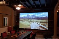 """Elite Screens Spectrum128"""" Front Projection Screen, MaxWhite�Fabric - ELECTRIC128X"""
