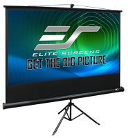 "Elite Screens Tripod100"" Front Projection Screen, MaxWhite�Fabric - T100UWH"