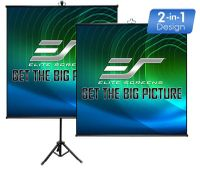 """Elite Screens Tripod Lite Wall50"""" Front Projection Screen, MaxWhite® Fabric - T50SW"""