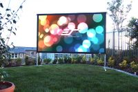 """Elite Screens Yard Master 275"""" Front Projection Screen, CineWhite® UHD-B Fabric - OMS75H2"""