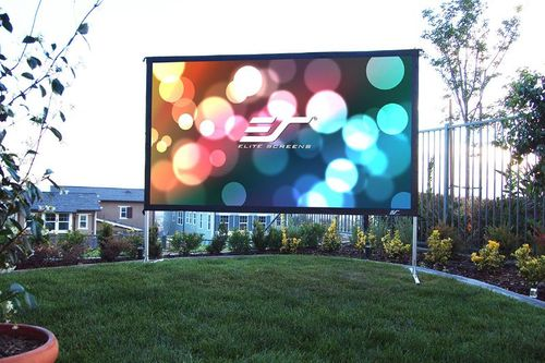 """Elite Screens Yard Master Plus 135"""" Rear Projection Screen, CineWhite® Fabric - OMS135H2PLUS"""