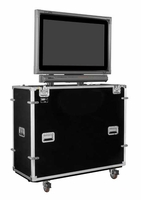 "EZ-LIFT Shipping and Display Lift Case for 42"" Flat Screen with SMART Overlay with Storage Lid: 59""H x 53""W x 22""D - ELS-42SL"