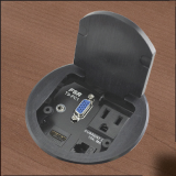 FSR T3-PC1D Table Box Includes: Power and Connections for HDMI, VGA, Audio and Network
