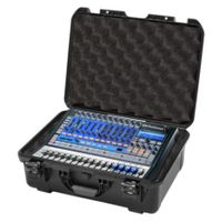 Gator Cases Black Waterproof Injection Molded Case, with Custom Foam Insert for Presonus Studio Live 16.0.2 - GMIX-PRESON1602-WP