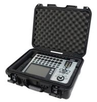 Gator Cases Black Waterproof Injection Molded Case, with Custom Foam Insert for QSC Touchmix 16 Mixing Console - GMIX-QSCTM16-WP