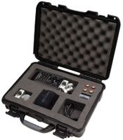 Gator Cases Black Waterproof Injection Molded Case with Custom Foam Insert for Zoom H6 Handheld Recorder and Accessories - GU-ZOOMH6-WP
