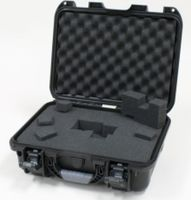 "Gator Cases Black waterproof injection molded case with interior dimensions of 15"" x 10.5"" x 6.2"". DICED FOAM - GU-1510-06-WPDF"