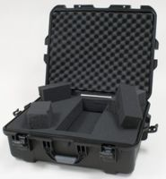 "Gator Cases Black waterproof injection molded case with interior dimensions of 22"" x 17"" x 8.2"". DICED FOAM - GU-2217-08-WPDF"