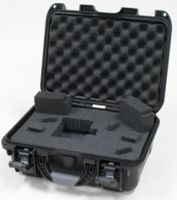 "Gator Cases Black Waterproof Injection molded case, with interior dimesions of 13.2"" x 9.2"" x 3.8"". DICED FOAM - GU-1309-03-WPDF"