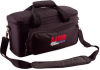 Gator Cases Padded Bag for Up to 12 Mics w/ Exterior Pockets for Cables - GM-12B