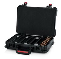 Gator Cases TSA Series ATA Molded Polyethylene Case for Foam Drops for (6) Wireless Microphones with Battery Storage - GTSA-MICW6