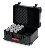 Gator Cases TSA Series ATA Molded Polyethylene Case with Foam Drops for Up to (15) Wired Microphones - GTSA-MIC15