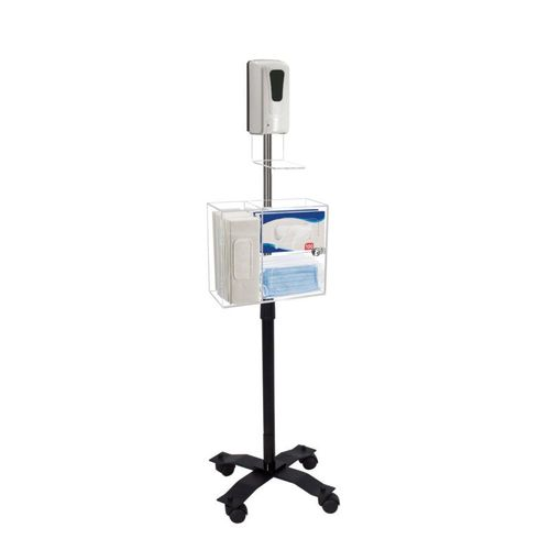 Compact Mobile Sanitizing Station with Automatic Dispenser