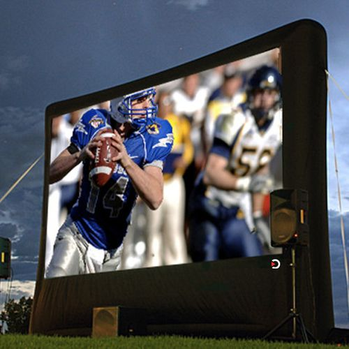 Outdoor Movie Theater System - Platinum Package - Full HD System on an 19.5' Screen!