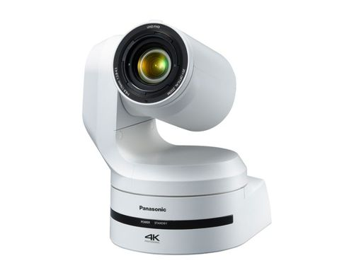 Panasonic 4K 60p/50p Output, High-Magnification Zoom and Wide-Angle Shooting for Flexible Video Production, White Model - AW-UE150W