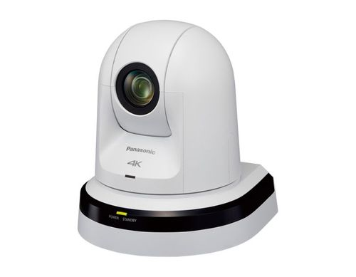 Panasonic PTZ Camera with Built-in NDI   HX for End-to-End Video Production over the Network, White Model - AW-UN70W