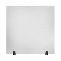 """RECLAIM® Acrylic Sneeze Guard Desk Divider - 30"""" x 30"""" Freestanding, Frosted"""