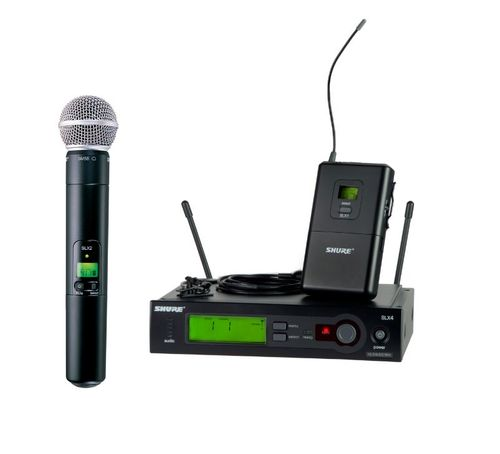 Shure Wireless System, H5 Frequency - SLX124/85/SM58-H5