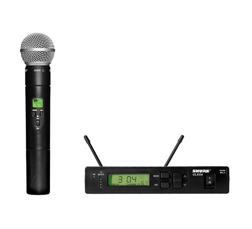 Shure Handheld Wireless System, G3 Frequency - ULXS24/58-G3