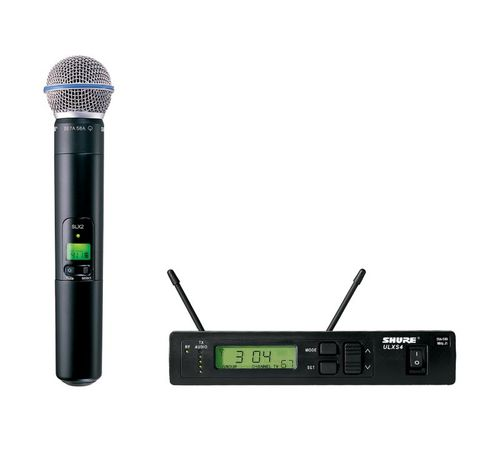 Shure Handheld Wireless System, G3 Frequency - ULXS24/BETA58-G3