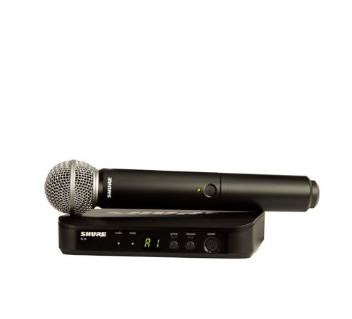 Shure Wireless Vocal System with SM58, H10 Frequency - BLX24/SM58-H10