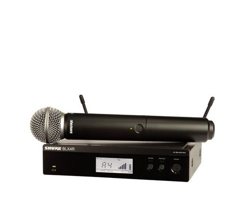 Shure Wireless Rack-mount Vocal System with SM58, H10 Frequency - BLX24R/SM58-H10