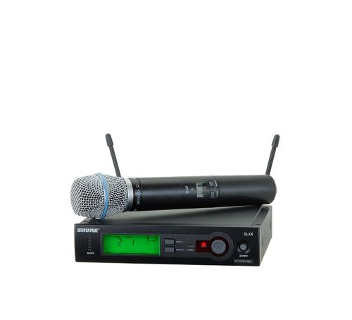 Shure System with SLX2/BETA87A Handheld Transmitter, H19 Frequency - SLX24/BETA87A-H19