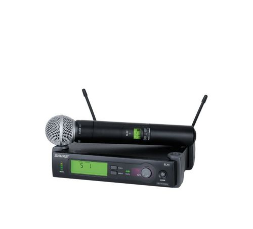 Shure System with SLX2/SM58 Handheld Transmitter, H19 Frequency - SLX24/SM58-H19