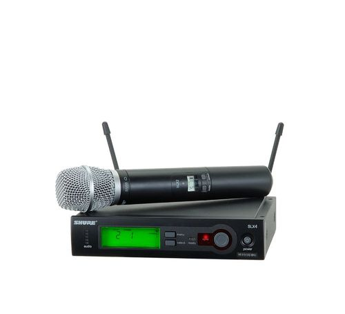 Shure System with SLX24/SM86 Handheld Transmitter, H19 Frequency - SLX24/SM86-H19
