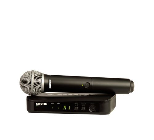 Shure Wireless Vocal System with PG58, H9 Frequency - BLX24/PG58-H9