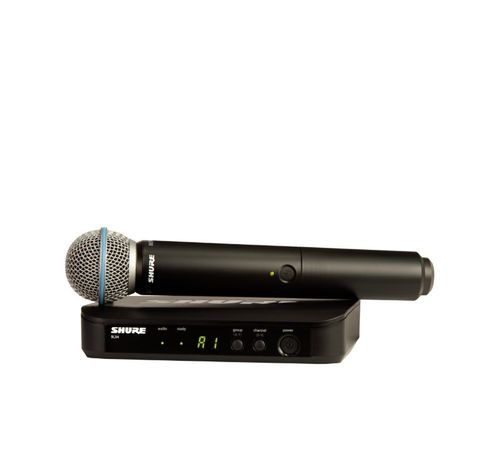 Shure Wireless Vocal System with Beta 58A, H9 Frequency - BLX24/B58-H9