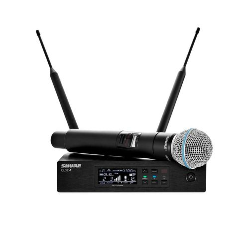 Shure System with QLXD2/BETA58A Handheld Transmitter, J50A Frequency - QLXD24/B58-J50A