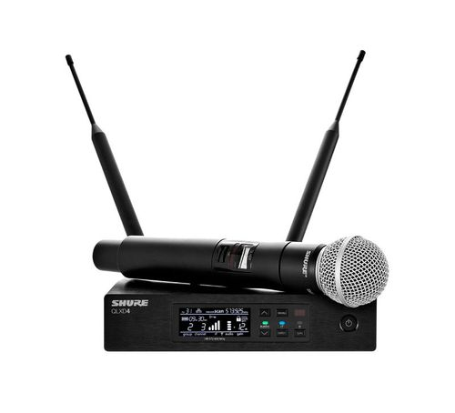 Shure System with QLXD2/SM58 Handheld Transmitter, J50A Frequency - QLXD24/SM58-J50A