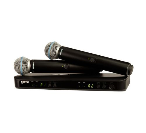Shure Wireless Dual Vocal System with two Beta 58A, H10 Frequency - BLX288/B58-H10
