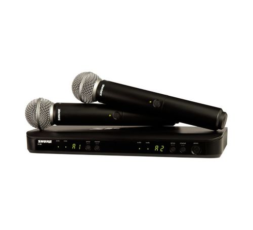 Shure Wireless Dual Vocal System with two SM58 Microphones, H10 Frequency - BLX288/SM58-H10